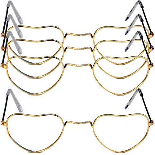 4 x Herzbrille Liebesbrille Brille in Herzform Unisex Liebe Herzbrillen Komplettbrille