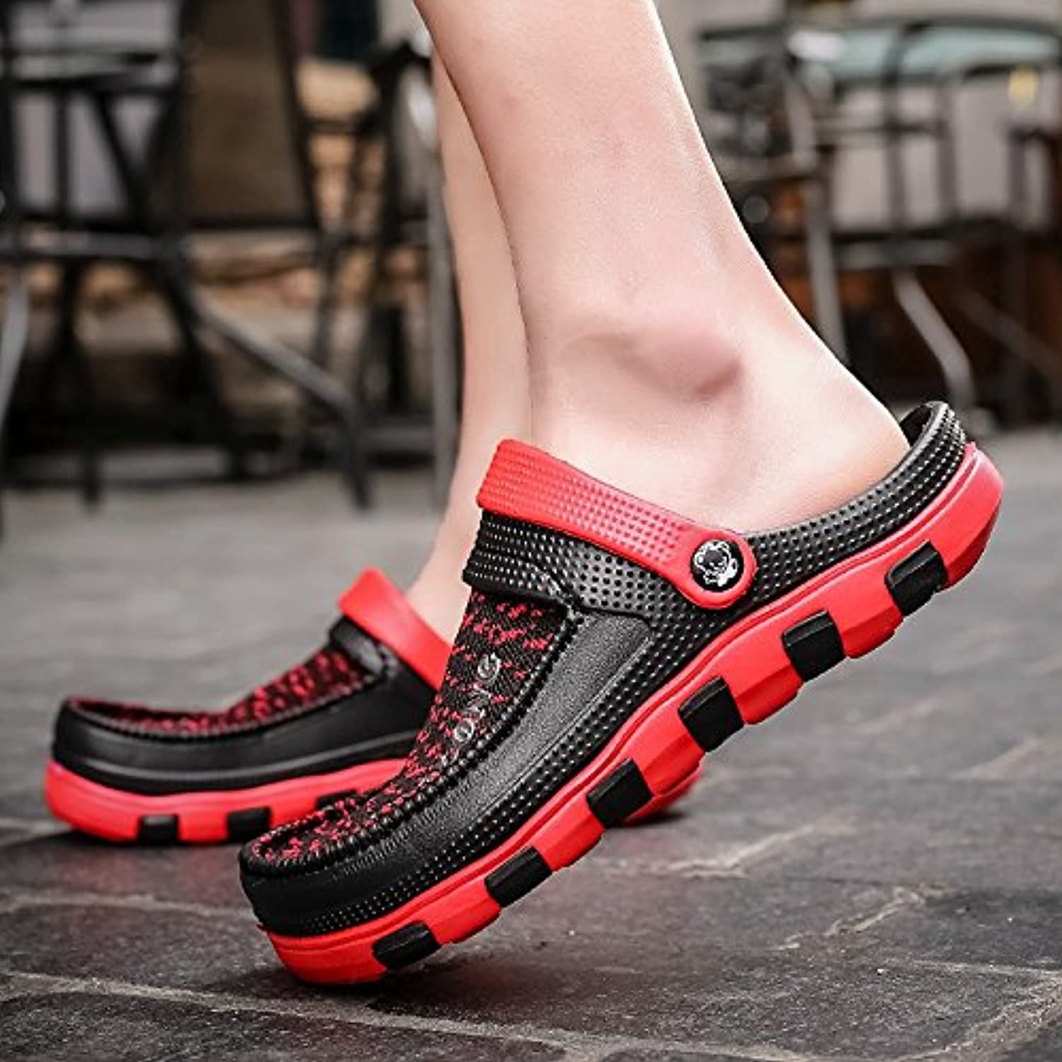 Xing Lin Men'S Sandals Slippers Men Cold Towing Summer Skid Beach shoes Leisure Hole shoes Bird Nest Tidal Garden shoes