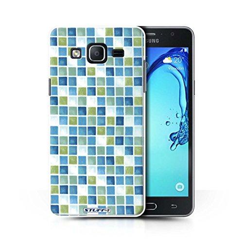 Stuff4 hoes/case voor Samsung Galaxy on5/G550 / blauw/groen patroon/badkamer tegels collectie