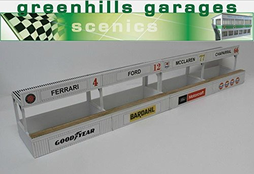 Greenhills Scalextric Slot Car Building American Pit Boxes Kit 1:43 Scale MACC576