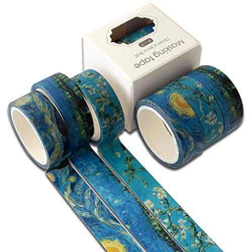 Leiouser Lot de 3 rouleaux de ruban adhésif Washi Motif océan