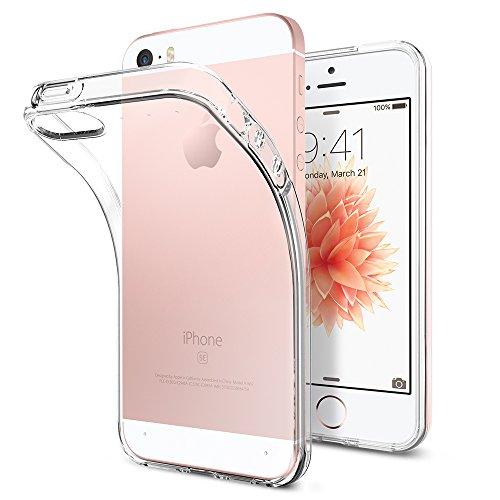 Spigen Liquid Air Hülle Kompatibel mit iPhone SE, iPhone 5s und iPhone 5 -Crystal Clear