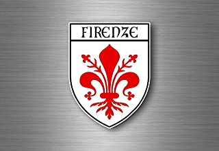 Akacha Sticker Adesivi Adesivo Stemma Etichetta Bandiera Auto Firenze Italia