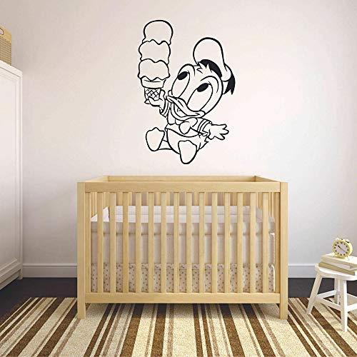 Calcomanías de pared oscura de dibujos animados helado arte ventana refrigerador pegatinas de vinilo dormitorio de niños jardín de infantes decoración de interiores lindo papel tapiz