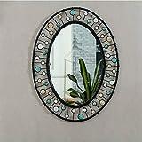 Modern Minimalist Round Teardrop Gold Accent Mirror Wall Hanging Mirror