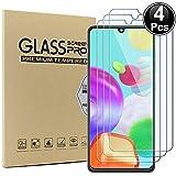 Ash-case [4 Stück Panzerglas Schutzfolie für Samsung Galaxy A41, Anti- Kratzer, Bläschenfrei, 9H Festigkeit, HD-Klar, 3D R&e Kante [Transparenz]