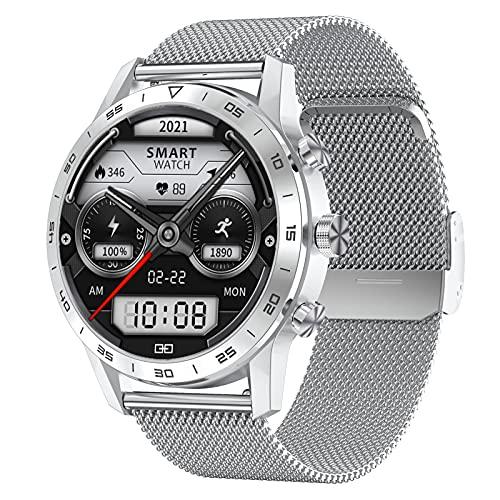 BNMY Smartwatch 1.39' Reloj Inteligente para Hombre Mujer, Reloj Deportivo Impermeable IP68 con Pulsometro, Pulsera Actividad Inteligente con Monitor De Sueño Y Podómetro, Fitness Tracker,F