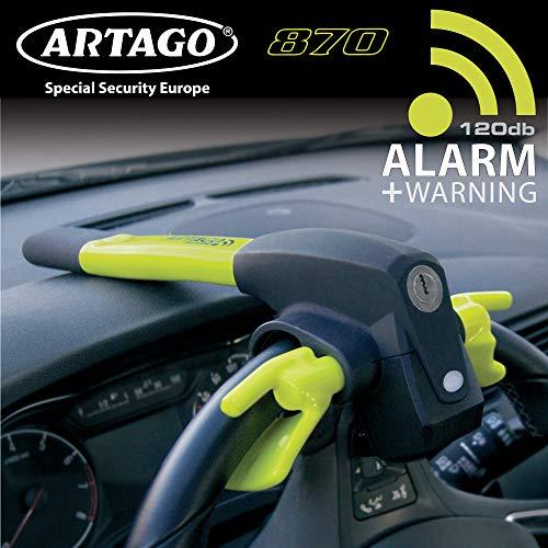 Artago 870 antirrobo Coche Volante 2en1 con Alarma Inteligente 120 db Alta Gama, Multicolor, Única