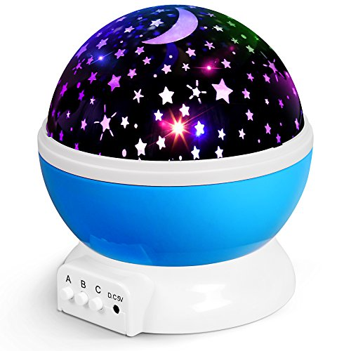 AnanBros Room Decor Kids Night Light with Lamp Mode and Projection Mode, Rotating Star Projector with 9 Color Options, Sensory Toys for Autism, Baby Star Light for Christmas, Birthday and Party