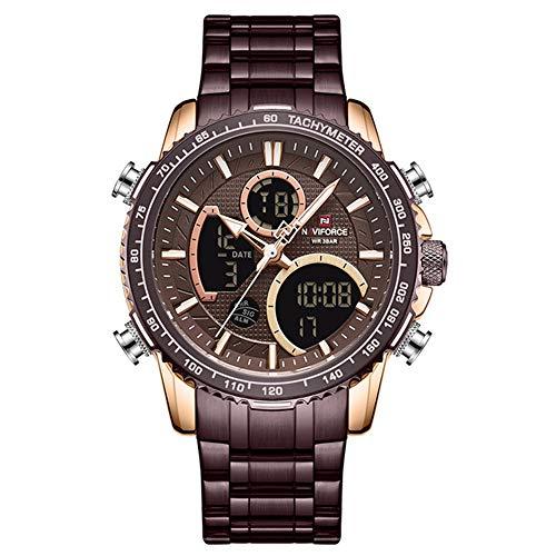 Reloj para Hombre Top Marca Big Dial Relojes Deportivos Reloj de Pulsera de Cuarzo cronógrafo para Hombre Fecha Reloj Masculino Relogio Masculino