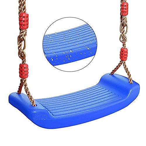 FYRMMD Columpio para niños, Asiento de Columpio de plástico para niños, Carga máxima de 100 kg, Columpio para Colgar en el jardín al Aire Libre, Cuerda Ajustable, Juguetes para Exteriores