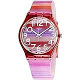 Swatch GP140 ASTILBE - Reloj Analógico de Cuarzo para Mujer con Correa de Plástico