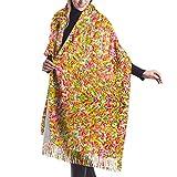 Tengyuntong Damen Wickeldecke Schal, Frauen Pashmina Schal, bunte Candy Sprinkle Soft Wrap Schal Quasten Schals für Frauen