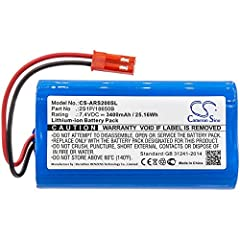Compatible with the Following Model: Arizer Solo, Arizer Solo 2 Replacement for the Following Battery Part Numbers: Arizer 2S1P/18650B Product Type:Li-ion Volts: 7.4V Capacity: 3400mAh All products are certificated with FCC, CE,CB,ISO9001,and RoHS; p...