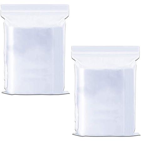 ジッパー式ポリ袋 200枚入れ 小分け 袋 密封保存袋 透明 厚くて丈夫 収納袋 プラスチック袋 包装 収納用品 (9 x 13cm)