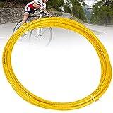 DEWIN Cable de Freno de Bicicleta Mountain Road de 3 Metros, Accesorio de Carcasa de Tubo de Cable de Freno Trenzado Tejido para Bicicleta(Oro)