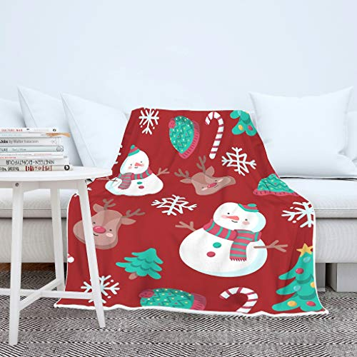 NiTIAN Christmas Tree New Year deken, coral fleece TV-deken, microvezel warme reuzedoek als bankdeken of bedsprei
