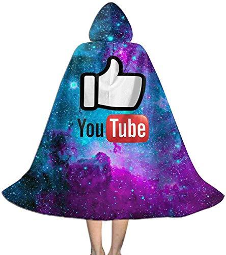 Halloween Christmas Kid Cosplay Hooded Robe Cape Cloak You Are Good Youtube Logo Hoodie Devil Vampire Wizard