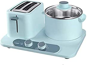 LYATW Retro 3-in-1 Family Size Breakfast Station, Coffeemaker, Toaster Oven, Griddle, Mini Sandwich Electric Oven