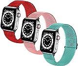 LLMXFC Bandas de relojes elásticas trenzadas suaves de nylon SOLO LOOP compatible con for el reloj de Apple Sport Ajustable Sport Transpirable Strap de la muñeca for iWatch Series 7/6/5/4/3/2 / 1 / SE