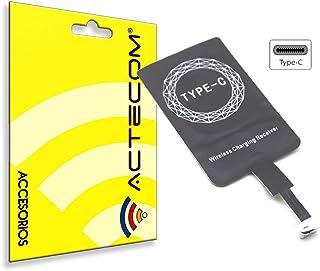 actecom® Receptor Carga QI INALAMBRICO MOVILES Compatible para Smartphone Tipo C Adaptador A