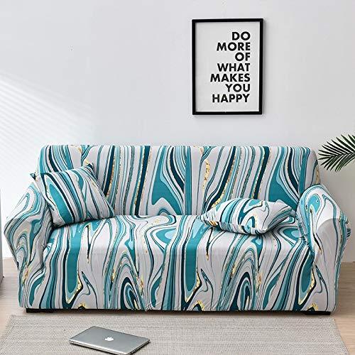 Funda de sofá elástica Fundas de sofá a Cuadros para Sala de Estar Funda de Silla de sofá Totalmente Envolvente Sillón Protector de Muebles Antipolvo A17 3 plazas