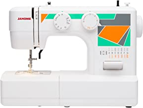 Janome MOD-15 Easy-to-Use Sewing Machine with 15 Stitches, Adjustable Stitch Length and 5-Piece Feed Dogs