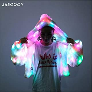 Light UP LED Jacket Flashing Coat Girls Lighted Carnival Stage Birthday Dress Up Halloween Party Costume Dances