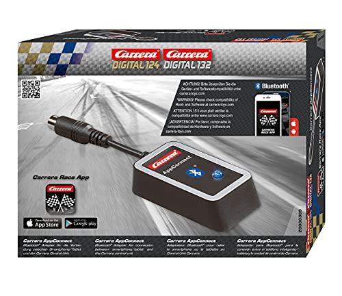 Carrera 30369 AppConnect – Bluetooth-Adapter für die bahn DIGITAL 124 oder DIGITAL 132 – Renninformationen per App direkt aufs Smartphone, Tablet oder PC
