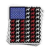 DKISEE Pegatina para coche Beagle perro bandera americana Beagle...