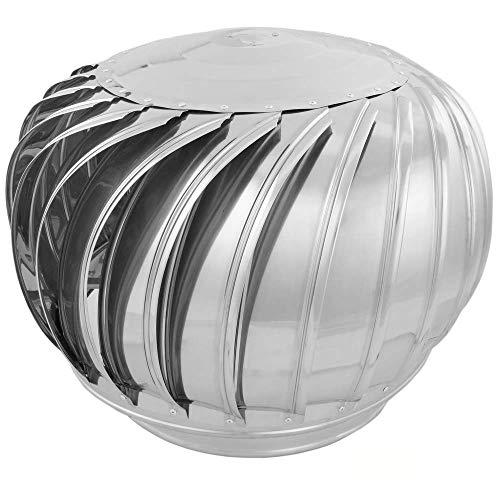 PrimeMatik - Roterende gegalvaniseerde afzuigkap voor buis met een diameter van 360 mm