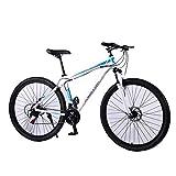 UR MAX BEAUTY 29 Zoll Mountainbike, Erwachsene Mountain Fahrrad, Mechanische Scheibenbremsen, Federung Vorne Männer Frauen Bikes,a,29 inch 24 Speed