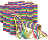 com-four 25x Rollos Streamers en Diferentes Patrones como decoración de Fiesta para cumpleaños: Serpientes de Papel para la víspera de Año Nuevo (25 Piezas - serpentinas)