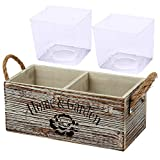 Cajas de madera antiguas rectangulares de aspecto shabby, macetero, macetas para plantar o decorar flores y jardín, 1 unidad