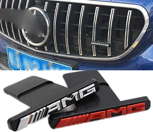 QMZDXH Coche Delantero Parrilla AMG Emblema, Rejillas Frontales de Radiador para Mercedes-Benz A B C Clase E W176 W246 W204 W205 W212 W213 GLC X253 GLE W292