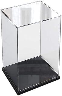 ELEpure Petite Boîte Vitrine Acrylique Transparent pour Collection Lego Figurine Maquette, Présentoir Boîte d'affichage Ra...