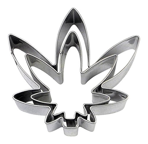 Naughty Pantry Marijuana Pot Leaf Cookie Cutter Set of 2 Stainless Steel