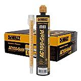 10 oz. Dewalt AC100+ Gold Quik-Shot Acrylic Epoxy Adhesive (Case of 12)