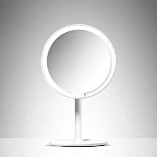 Amiro Makeup Mirrors with Natural Daylight LED Lights Adjustable Brightness HD Countertop Vanity Mirror from Xiaomi Youpin (Color : Ivory)