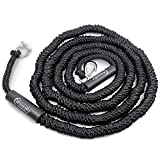 WAVESRX AnchorMate Bungee Line | Safely Anchor Your Boat, Jet Ski or PWC Near Beach or Sandbar | Stretches from 14' to 50' to Absorb Wake and Surf | Marine Grade Stainless Steel Snap Hook and D Ring