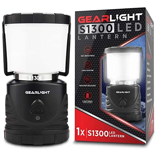 GearLight LED Camping Lantern S1300 - Up to 72 Hours Battery Powered Light - Best Outdoor, Camp, Tent, Hurricane, and… 3