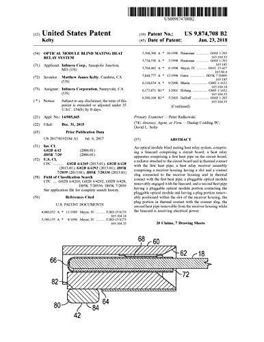 Optical module blind mating heat relay system: United States Patent 9874708 (English Edition)