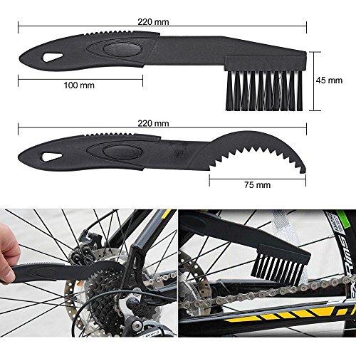 Oumers Fahrrad Reinigungsbürste, Bike Reinigungsbürste Tool für Fahrradkette/Kurbel/Reifen/Kettenblatt/Radfahren Ecke Fleck passend für Alle Fahrräder - 3