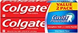 Colgate Cavity Protection With Active Fluoride Toothpaste, Value Pack, 6 Oz, 2 Ea, 6 Oz