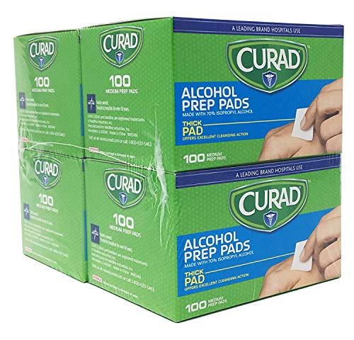 Alcohol Prep Pads, Thick Alcohol Swabs (Pack of 400) - CUR45585RB