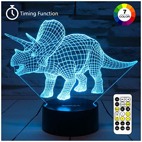 ZOKEA Night Lights for Kids Dinosaur 3D...