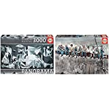 Educa Guernica, P, Picasso Panorama Puzzle, 3 000 Piezas, Multicolor (11502) + Almuerzo En Nueva York Puzzle, 1500 Piezas, Multicolor (16009)