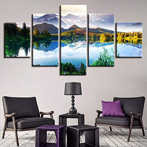 5 Canvas paintings Pictures Home Decor Magnificent Mountain And River Scenery Paintings HD Prints Poster Frameless