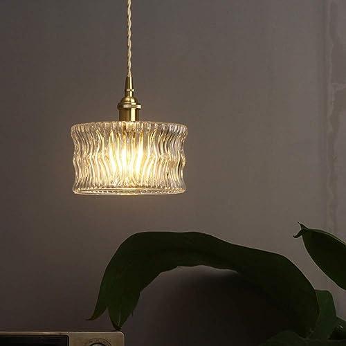 Vintage En Laiton Sculpté Lustre En Verre Créatif Moderne Lampe Décorative Chambre à Coucher Chevet Balcon Balcon Lustre Une vie luxueuse