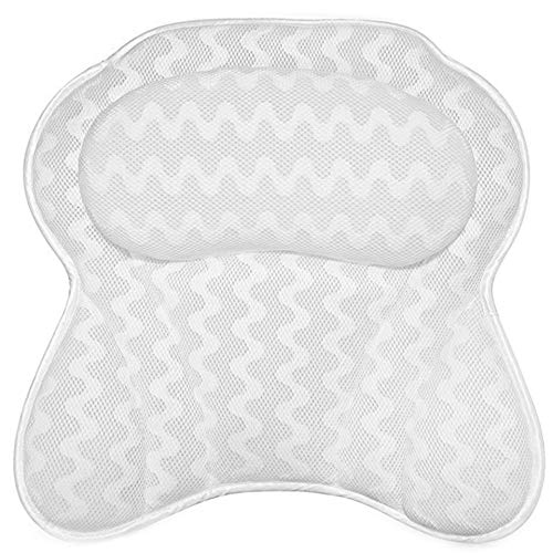 Bathtub Pillow, Ergonomic Bath Pillows for Tub Neck and Back Support Luxury...